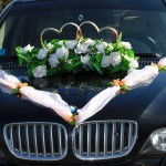 украшения для свадебного кортежа